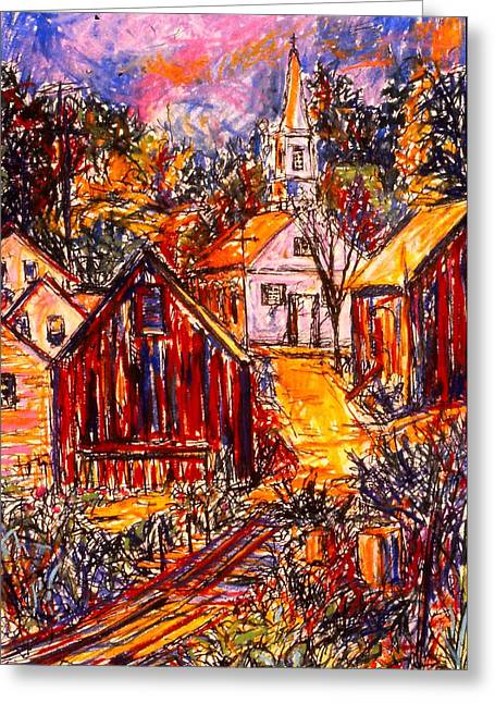 Small Towns Pastels Greeting Cards - Pathway to Color Greeting Card by Kendall Kessler