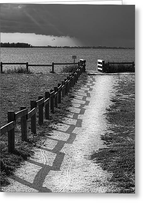 Wooden Fence Greeting Cards - Pathway to the Beach Greeting Card by Marvin Spates