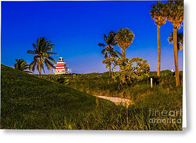 Pathway To The Beach Greeting Card by Rene Triay Photography