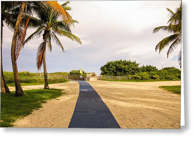 Walkway To The Beach Greeting Cards - Pathway to the beach Greeting Card by Zina Stromberg