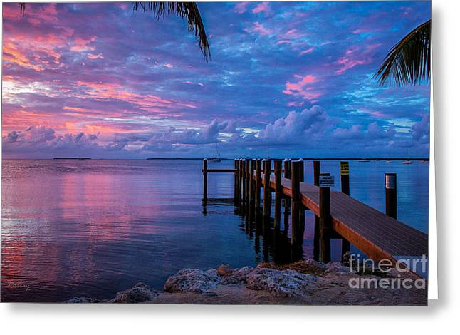 Isla Morada Greeting Cards - Pathway to the Infinity Greeting Card by Rene Triay Photography