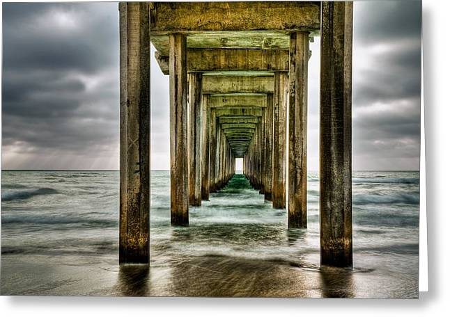 Pier Greeting Cards - Pathway to the Light Greeting Card by Aron Kearney Fine Art Photography
