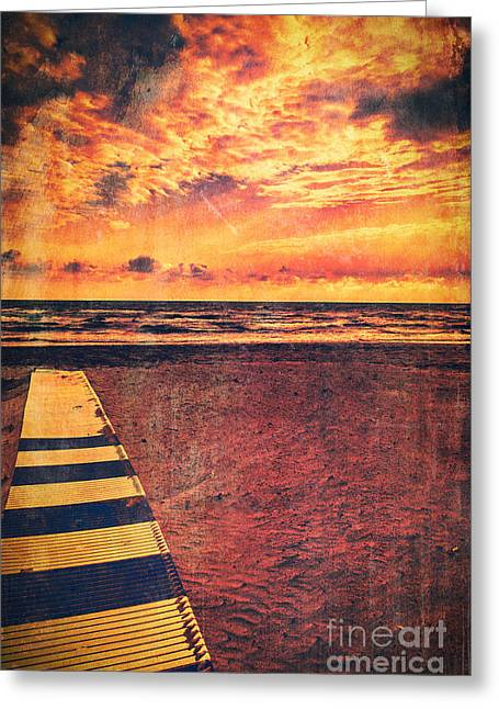 Sea View Greeting Cards - Pathway to the sea Greeting Card by Silvia Ganora