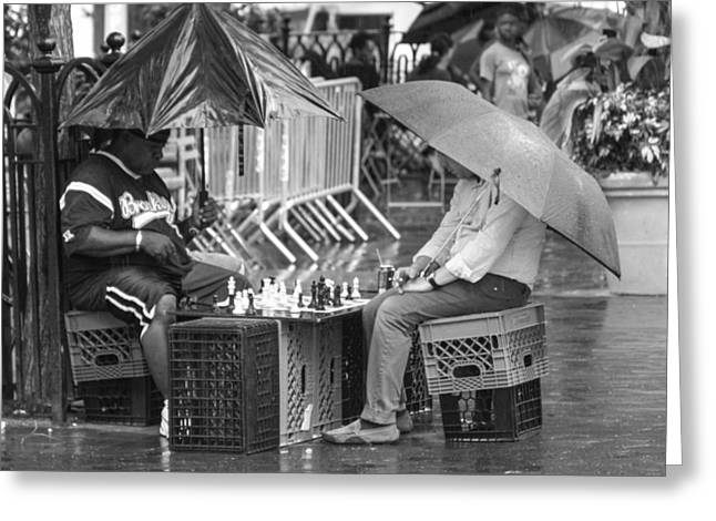 Recently Sold -  - Union Square Greeting Cards - Patience In The Rain Greeting Card by Francois H Joseph Jr