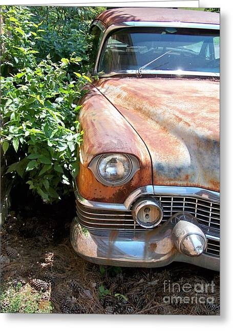 Smooth Ride Greeting Cards - Patina Done Well Greeting Card by Chuck  Hicks