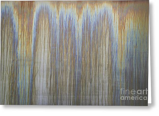 Salt Sea Greeting Cards - Patina On Cor-ten Steel Greeting Card by David Parker