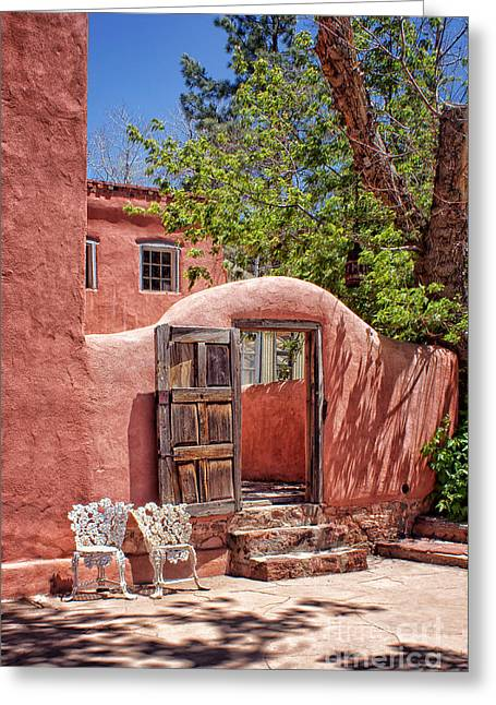 Adobe Greeting Cards - Patio Welcome Greeting Card by Nikolyn McDonald