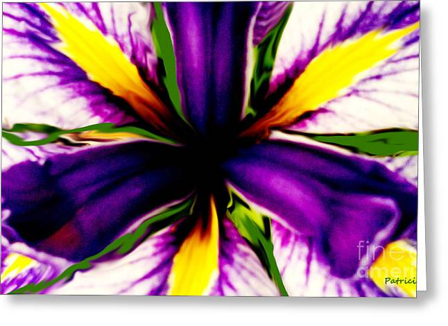 Patricia Bunk's Iris  Greeting Card by Patricia Bunk