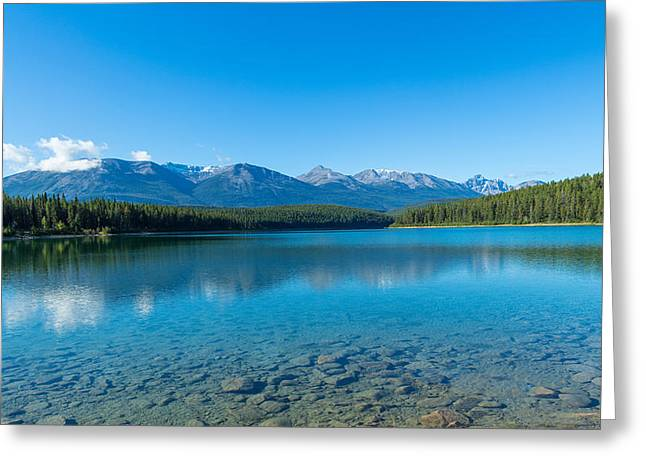 Lake Photography Greeting Cards - Patricia Lake With Mountains Greeting Card by Panoramic Images
