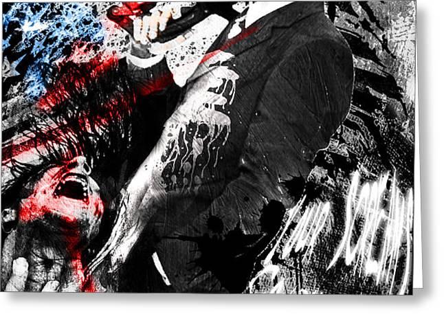 Patrick Bateman - American Psycho Greeting Card by Ryan RockChromatic