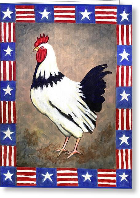 Patrick Patriotic Greeting Card by Linda Mears