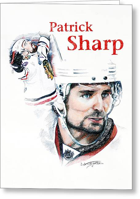 Patrick Sharp - The Cup Run Greeting Card by Jerry Tibstra