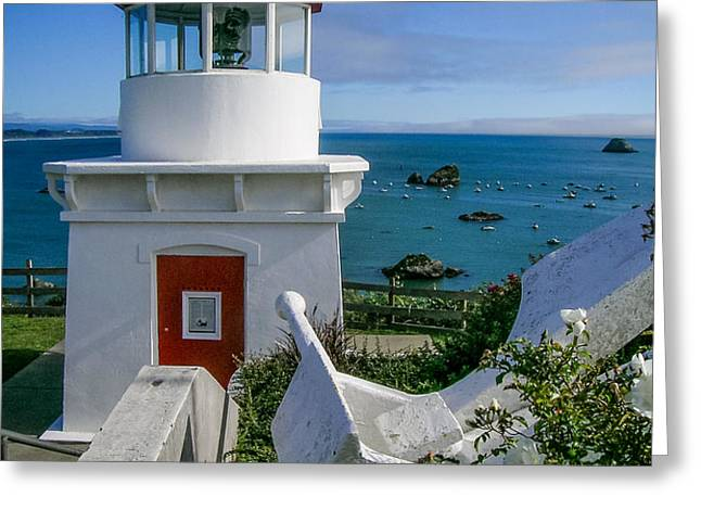 Patrick's Point Lighthouse Greeting Card by Jim DeLillo