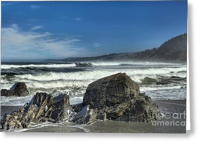 Northern California Beaches Greeting Cards - Patricks Rocks Greeting Card by Adam Jewell