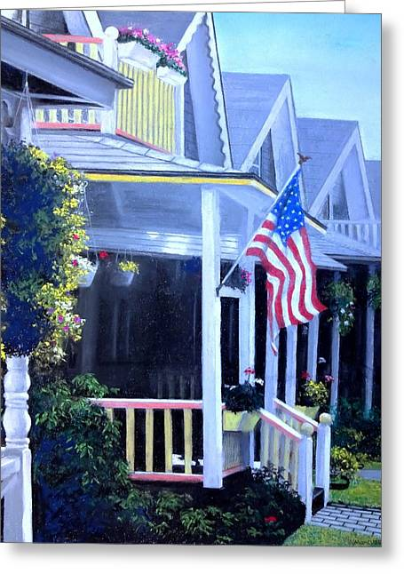 Flower Boxes Pastels Greeting Cards - Patriot Dream Greeting Card by Vincent Mancuso