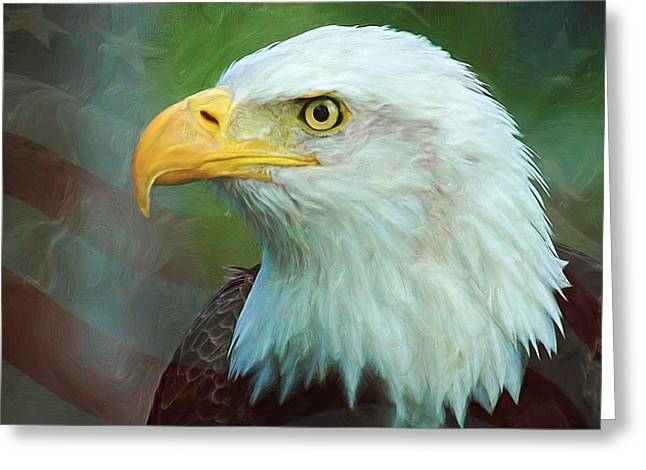 4th Digital Art Greeting Cards - Patriot Greeting Card by Heidi Smith