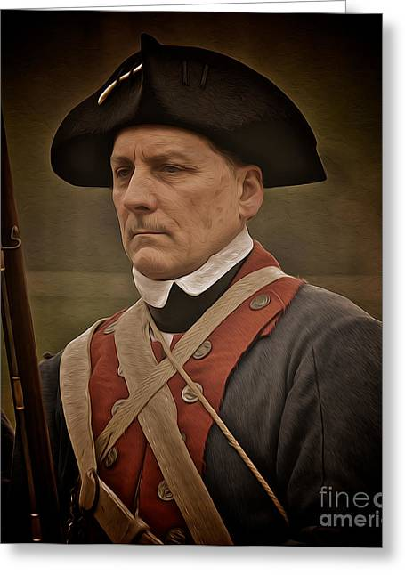 Re-enactor Greeting Cards - Patriot Greeting Card by Mark Miller