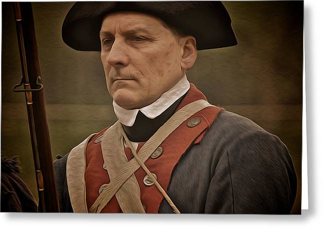 Patriot Greeting Card by Mark Miller