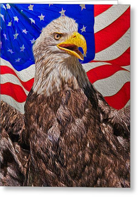 Conservative Greeting Cards - Patriot Greeting Card by Matthew Bamberg