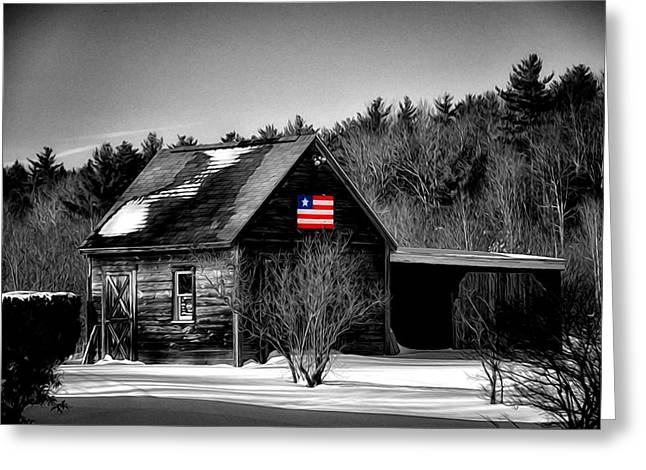 Barn Door Greeting Cards - Patriot Pride II Greeting Card by Tricia Marchlik