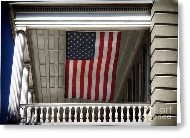 Patriotic Photography Greeting Cards - Patriotic Charleston Greeting Card by John Rizzuto