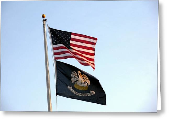 Patriotic Flags Greeting Card by Joseph Baril