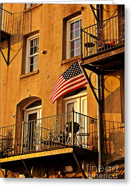 Patriotic Savannah Greeting Cards - Patriotic Greeting Card by M J Glisson