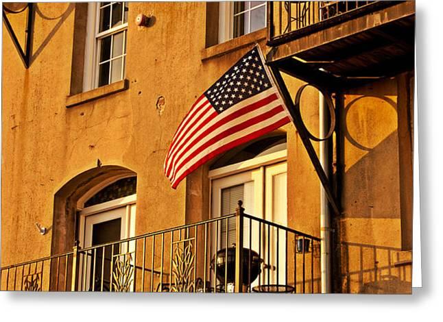 Patriotic Greeting Card by M J Glisson