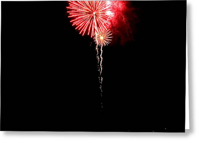 Patriotic Red Reflections Greeting Card by Gene Walls