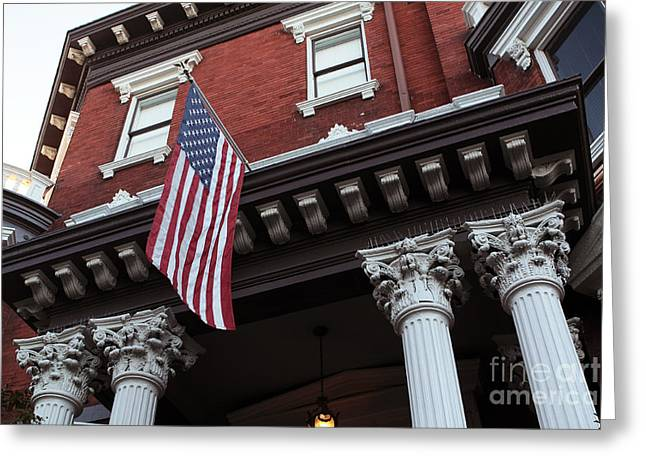 Chatham County Greeting Cards - Patriotic Savannah Greeting Card by John Rizzuto