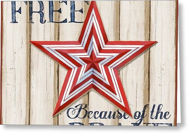 The White Stripes Greeting Cards - Patriotic Spirit Barn Star I Greeting Card by Paul Brent