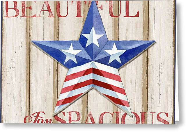 The White Stripes Greeting Cards - Patriotic Spirit Barn Star II Greeting Card by Paul Brent