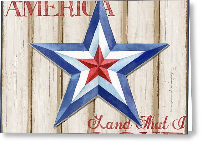 Freed Paintings Greeting Cards - Patriotic Spirit Barn Star III Greeting Card by Paul Brent