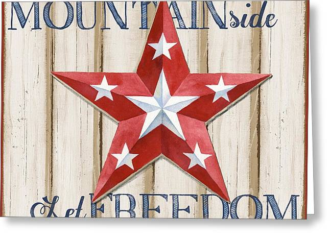 Bless Greeting Cards - Patriotic Spirit Barn Star IV Greeting Card by Paul Brent