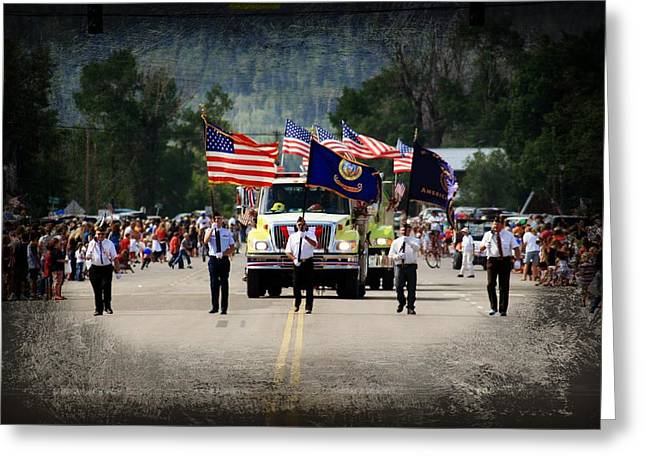 4th Of July Parade Greeting Cards - Patriotism Greeting Card by Becky Maness