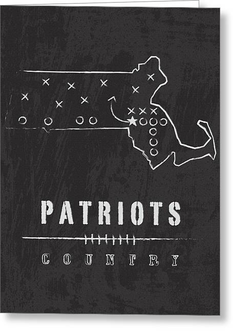 Patriot League Greeting Cards - Patriots Country 2 Greeting Card by Damon Gray