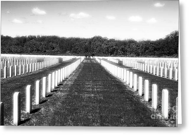 Headstones Greeting Cards - Patriots Greeting Card by John Rizzuto