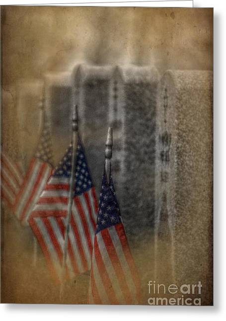 Headstones Digital Art Greeting Cards - Patriots Pallet Greeting Card by The Stone Age