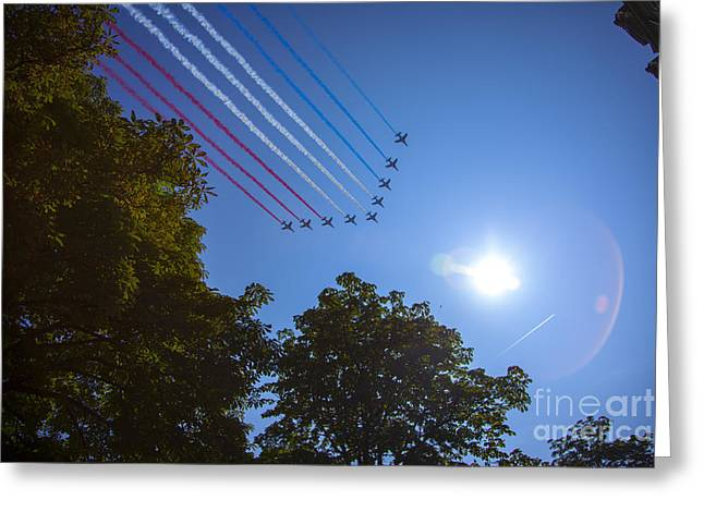 14th July Greeting Cards - Patrouille de France July 14th Greeting Card by Ronny Schroeder