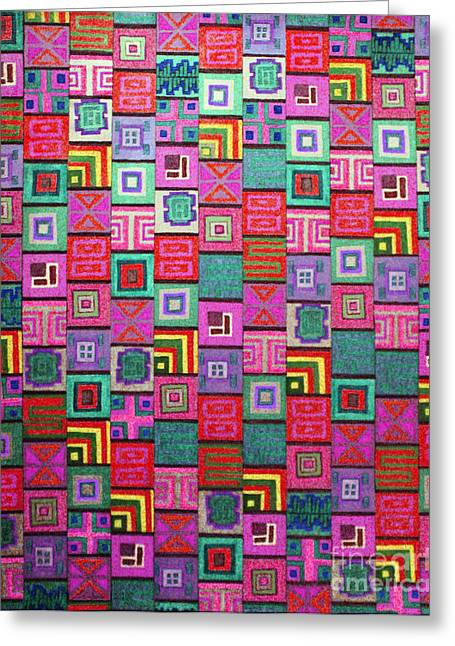 Repetition Drawings Greeting Cards - Pattern and Color study3 Greeting Card by Megan Dirsa-DuBois