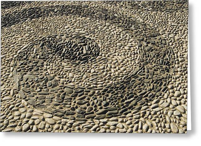 Stone Ground Greeting Cards - Pattern Made Of Stones In Pavement Greeting Card by Michael Thornton