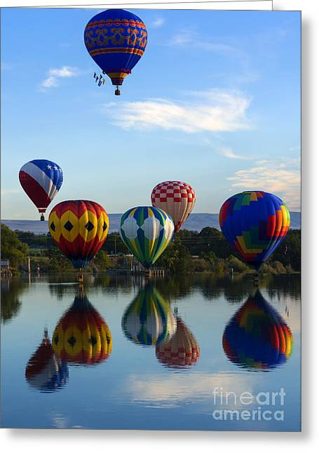 Yakima River Greeting Cards - Pattern of Six Greeting Card by Mike Dawson