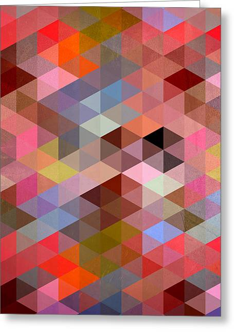 Surreal Geometric Greeting Cards - Pattern Of Triangle Greeting Card by Mark Ashkenazi