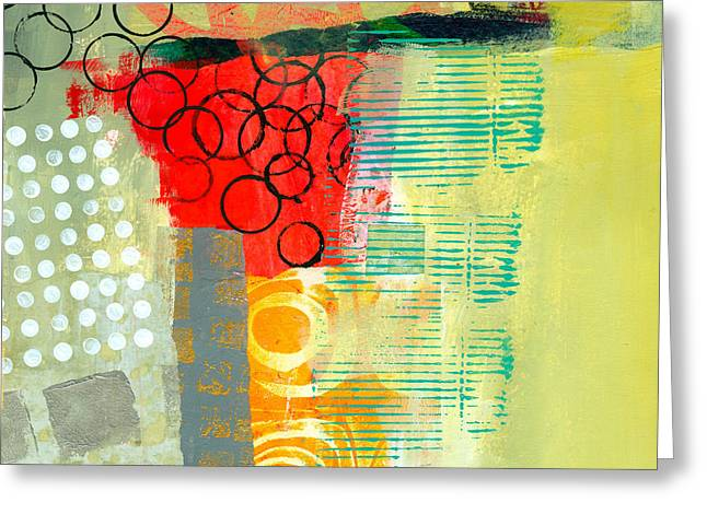 Abstract Collage Greeting Cards - Pattern Study #3 Greeting Card by Jane Davies