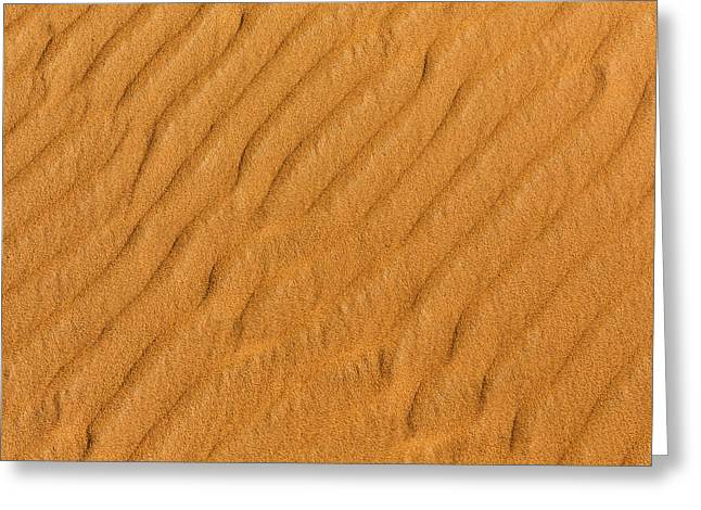 Sand Pattern Greeting Cards - Patterned Sand Greeting Card by Justin Albrecht