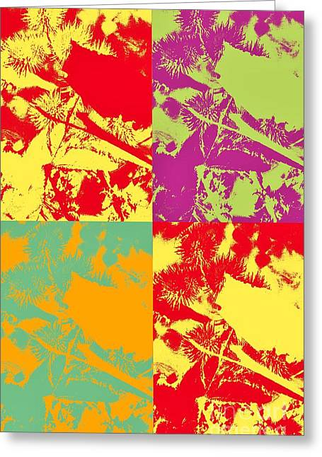 Patterns And Colors Greeting Card by Kathleen Struckle