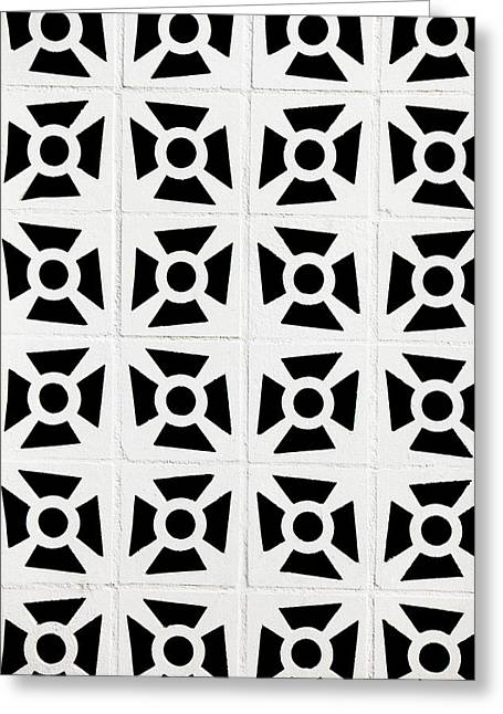 Square Format Greeting Cards - Patterns in Black and White Greeting Card by Art Block Collections