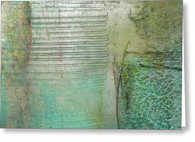 Sand Patterns Mixed Media Greeting Cards - Patterns in the Sand Greeting Card by Lisa Schafer
