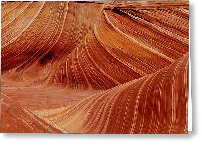 Abstract Waves Greeting Cards - Patterns in the Sandstone Greeting Card by Alan Socolik