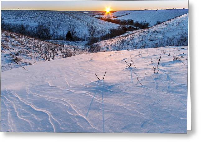 Pottawatomie Greeting Cards - Patterns in the Snow Greeting Card by Scott Bean
